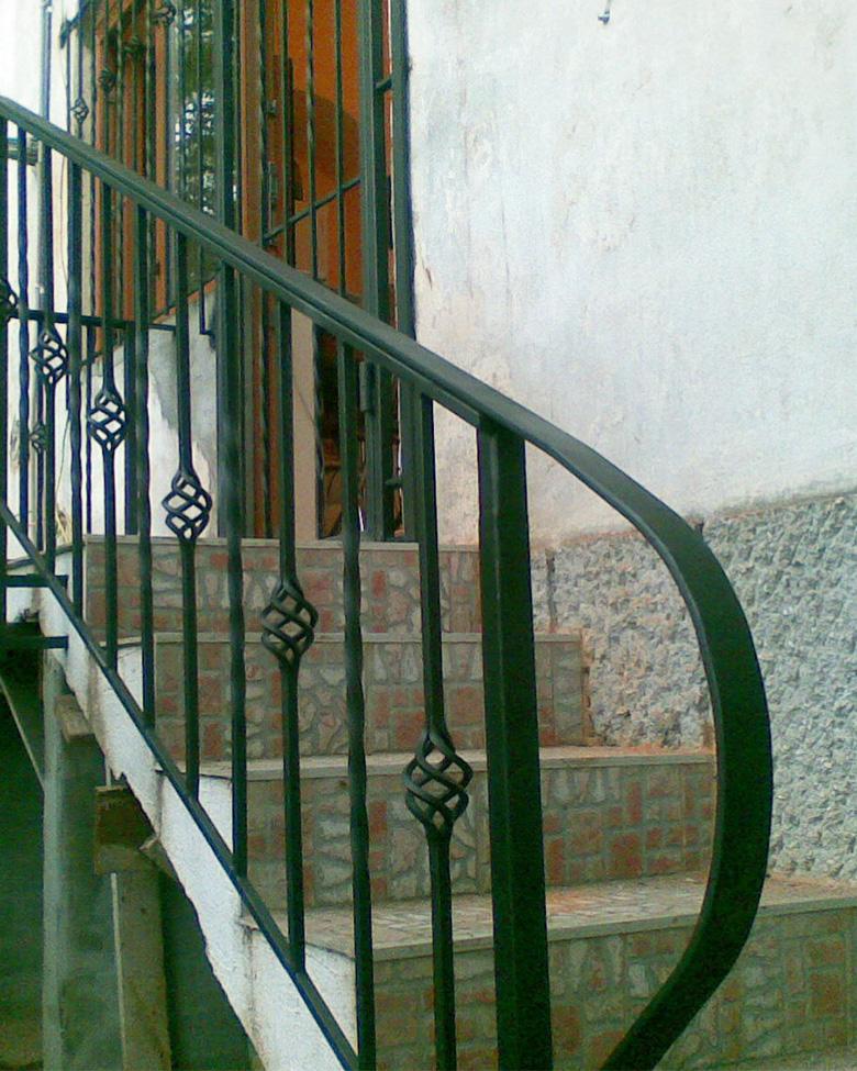 Balustrada simpla din fier forjat
