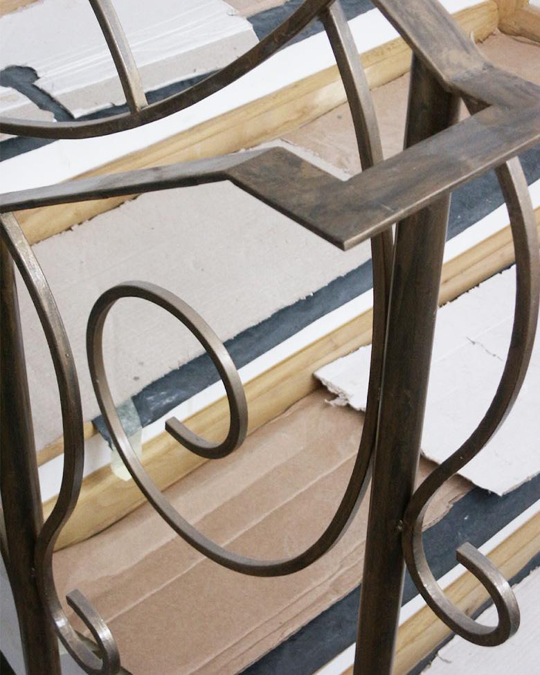 Balustrada scara din alama
